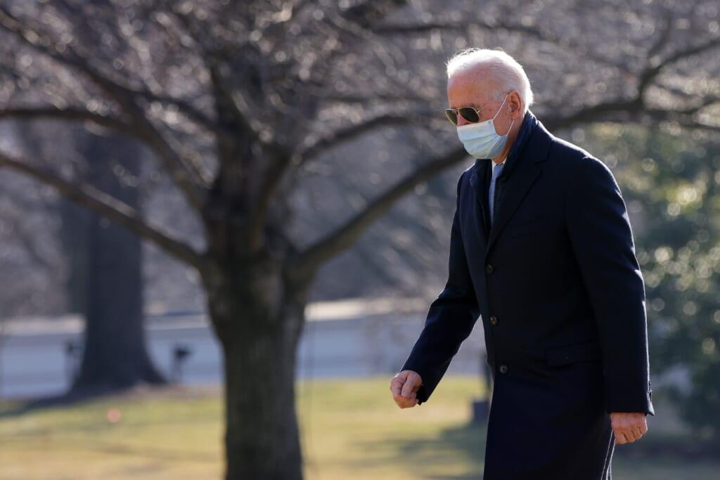 President Biden Arrives At White House From Delaware On Monday Morning
