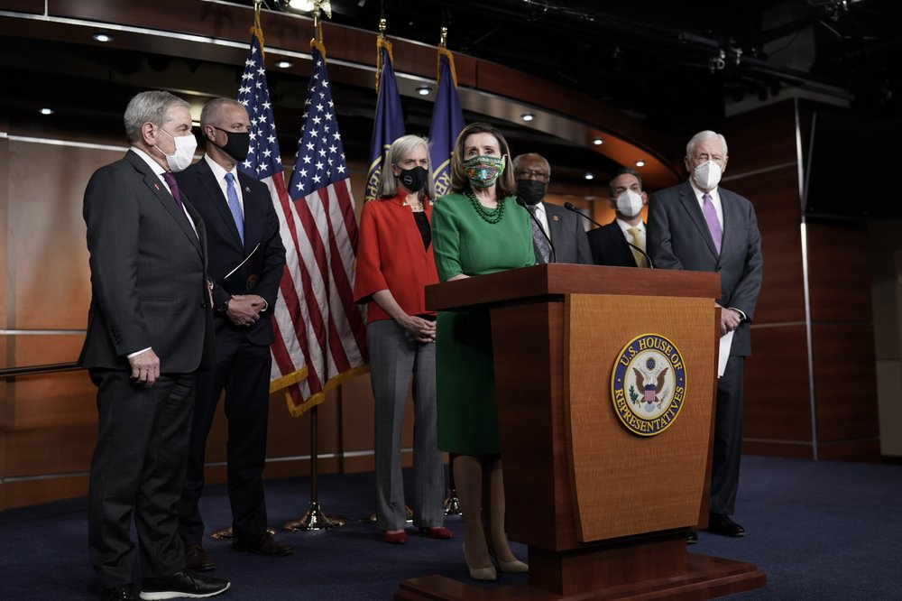 House passes $1.9 trillion pandemic bill on near party-line vote