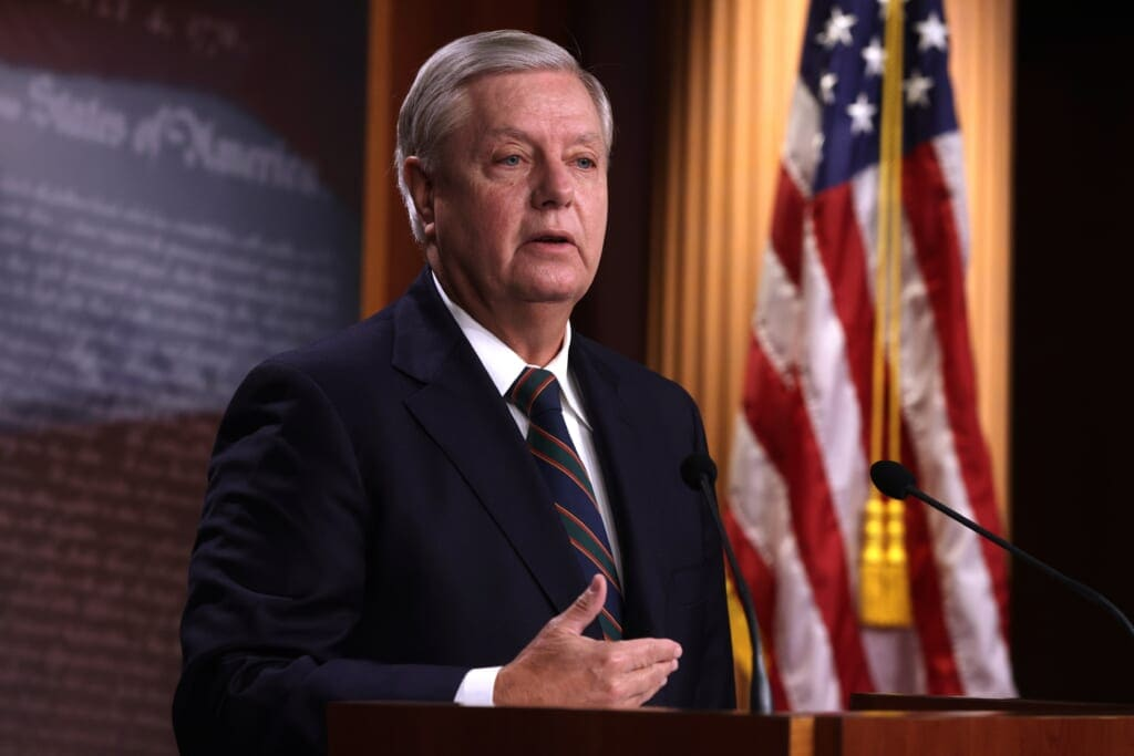 Sen. Lindsey Graham (R-SC) Holds A News Conference On Yesterday's Pro-Trump Mob Attack On The Capitol