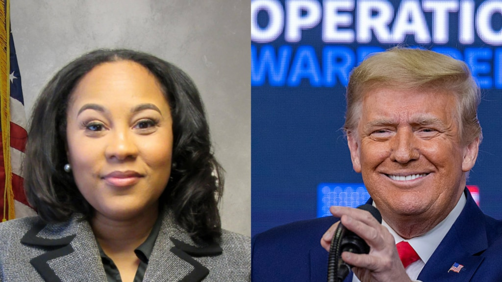 Fani WIllis Donald Trump www.theGrio.com