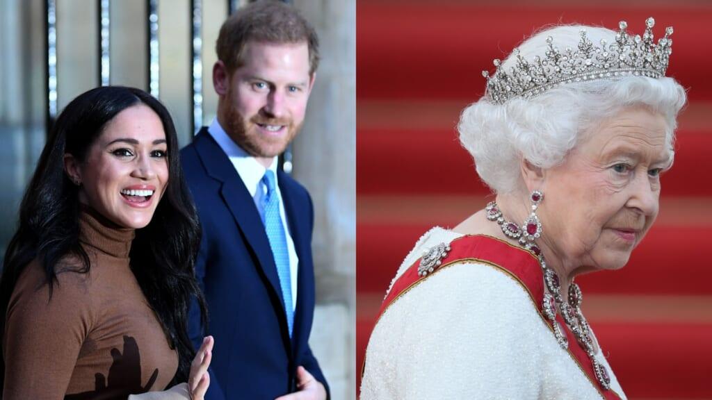 Harry Meghan Queen Elizabeth thegrio.com