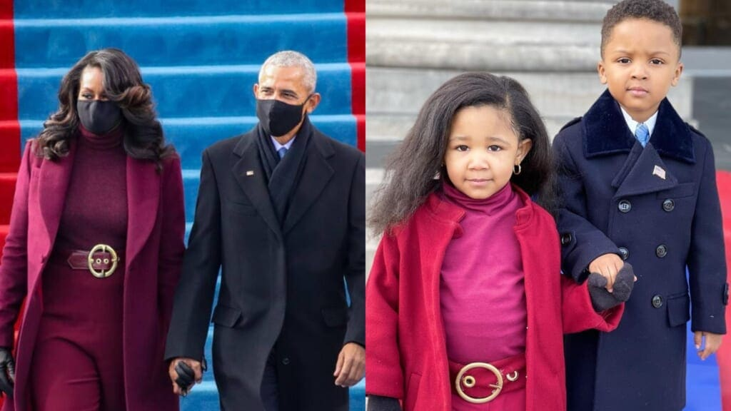 Michelle Obama praises kids' recreation of inauguration outfits: 'You nailed it'