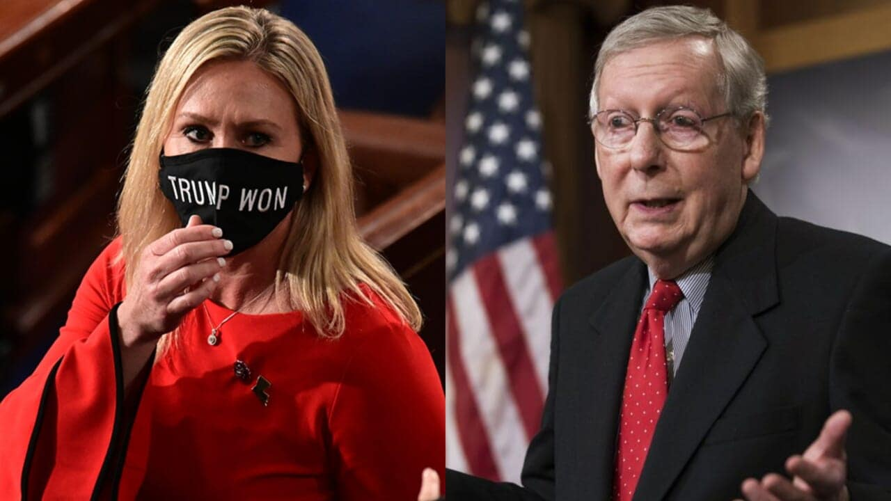 McConnell: Taylor Greene's use of conspiracy theories a 'cancer' to GOP - TheGrio