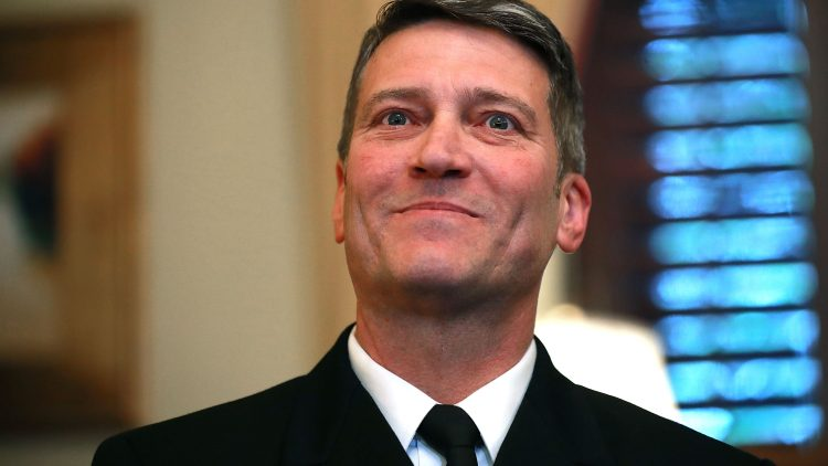 President Trump's Nominee To Be Veteran's Secretary Ronny Jackson Meets With Sen. Isakson On Capitol Hill