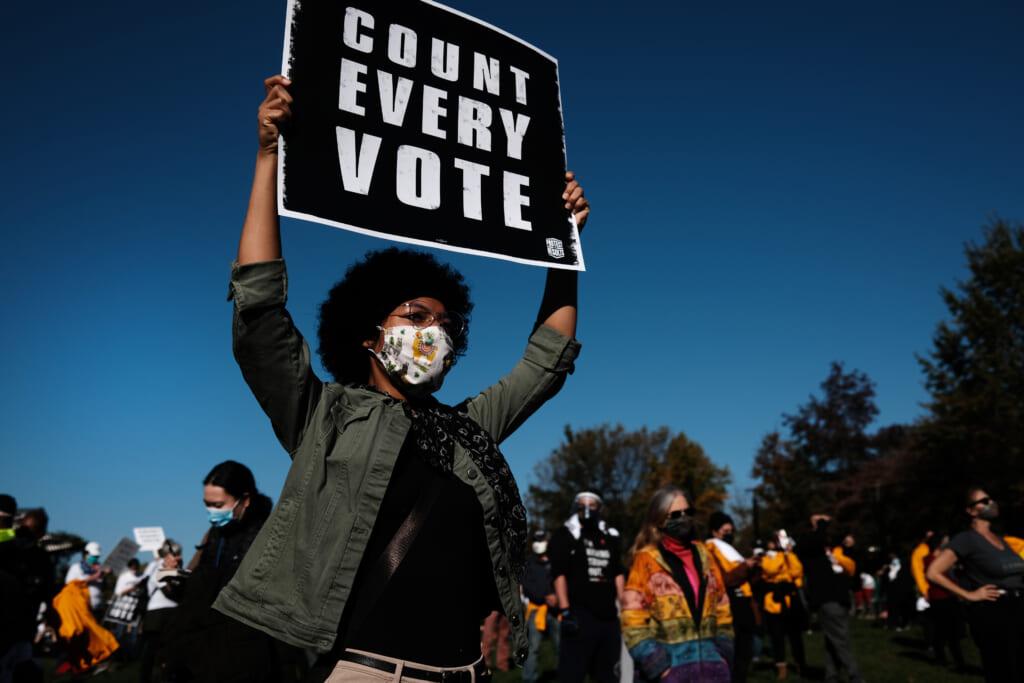 Voting Rights Protest in Philadelphia, Pennsylvania