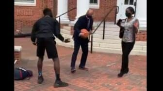 HBCU president shows up grad student's basketball skills in viral video