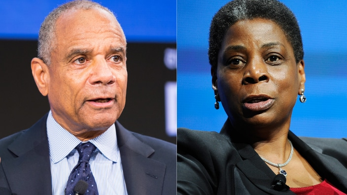 Ken Chenault and Ursula Burns