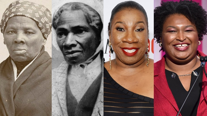 Harriet Tubman, Sojourner Truth, Tarana Burke and Stacey Abrams