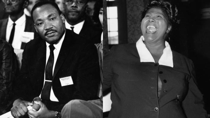Dr. Martin Luther King Jr. and Mahalia Jackson