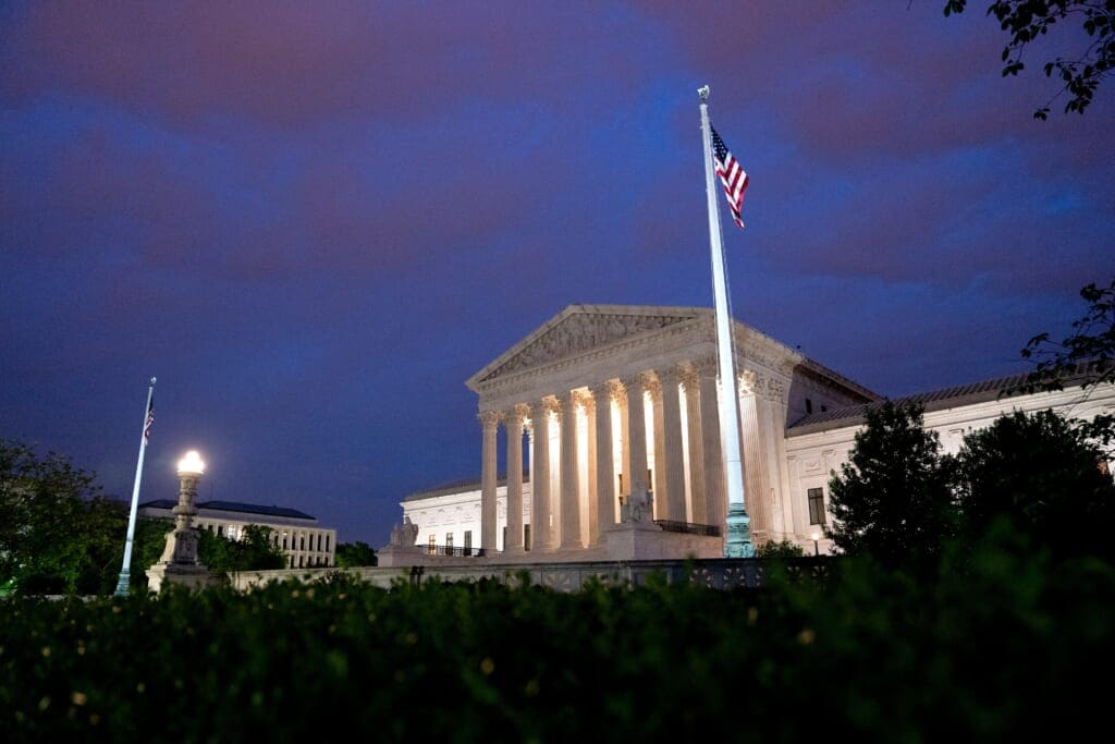 Supreme Court At Sunrise In D.C.