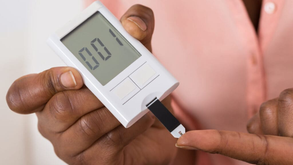 Diabetes Hand Holding Device For Measuring Blood Sugar