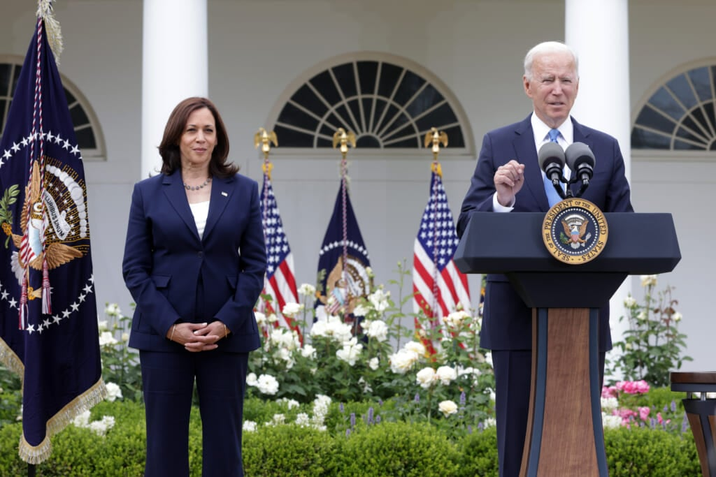 U.S. President Joe Biden and Vice President Kamala Harris