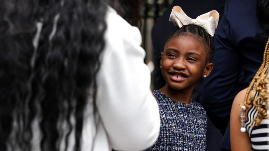 Gianna Floyd, George Floyd's daughter, arrives to the White House