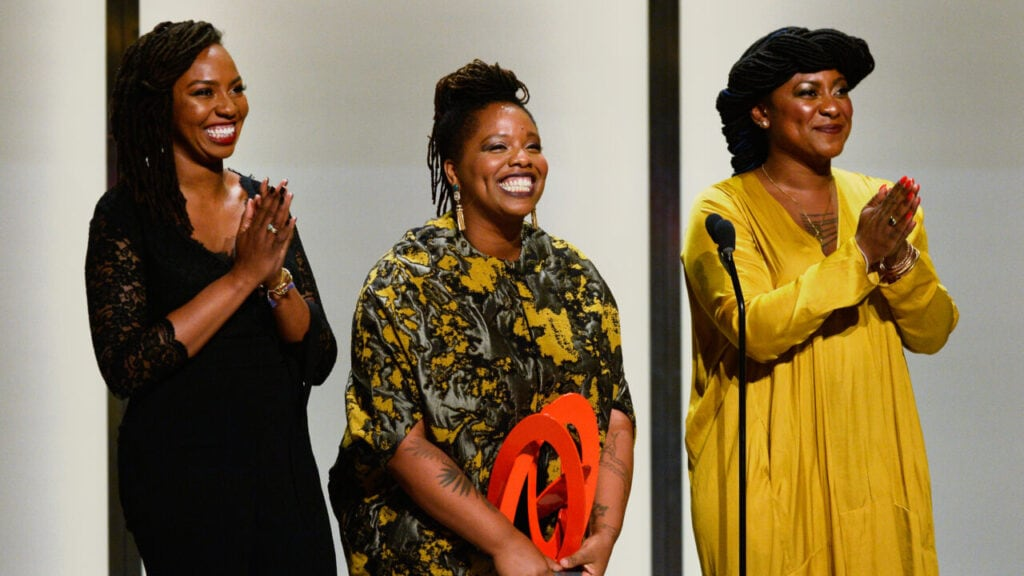 Black Lives Matter co-founders Opal Tometi, Patrisse Cullors, and Alicia Garza