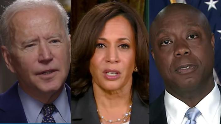 Joe Biden, Kamala Harris, Tim Scott