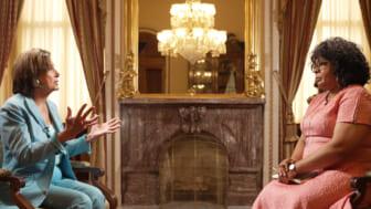 Nancy Pelosi and April Ryan