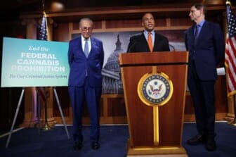 Senate Majority Leader Chuck Schumer Holds News Conference Introducing The Cannabis Administration And Opportunity Act