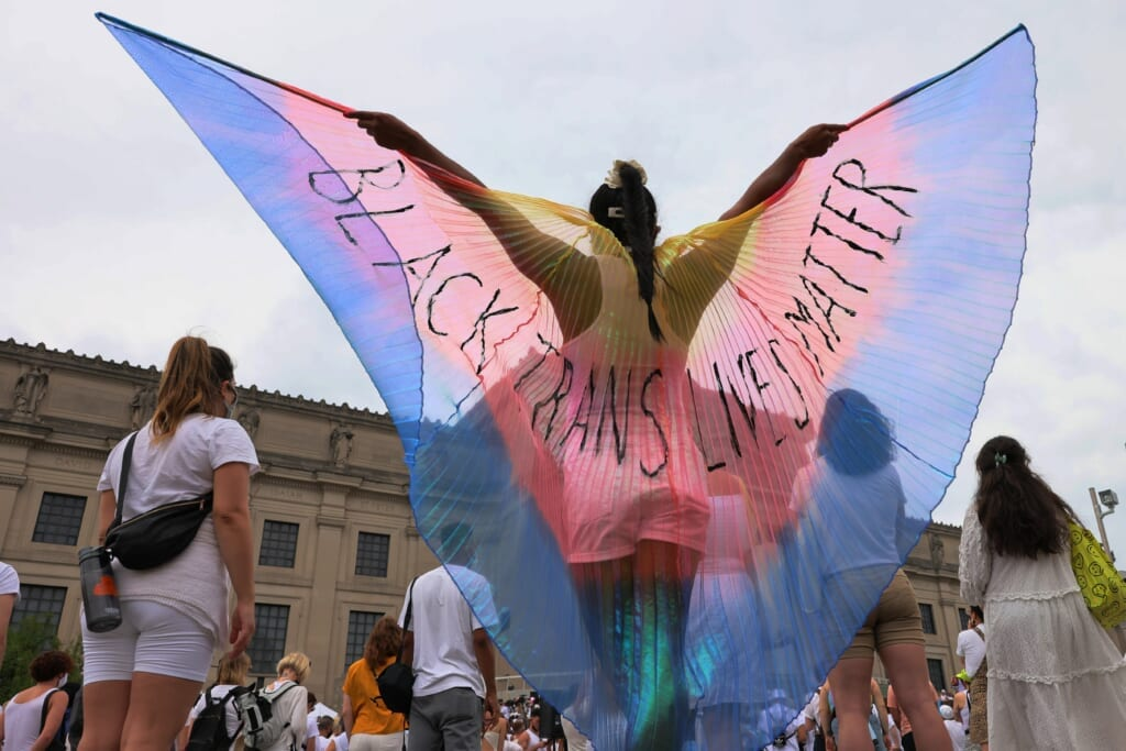 Brooklyn Liberation Group Marches To Protect Trans Youth