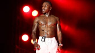DaBaby performs on stage during Rolling Loud