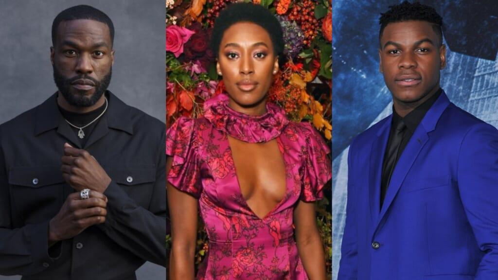 Yahya Abdul-Mateen II, John Boyega, and Sophia Brown thegrio.com