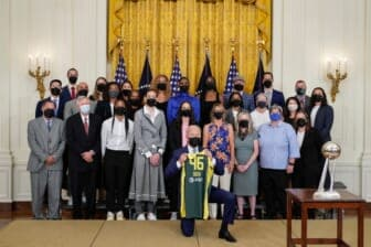 President Biden Welcomes WNBA Champions Seattle Storm To The White House