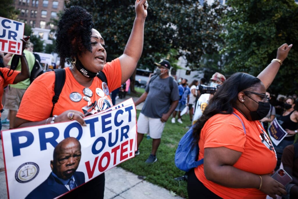 Voting Rights Rallies Held In Washington DC