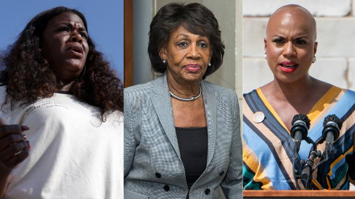 Reps. Cori Bush, Maxine Waters and Ayanna Pressley, theGrio.com