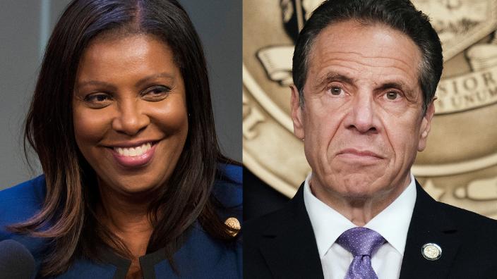 New York Attorney General Letitia James and Gov. Andrew Cuomo, theGrio.com