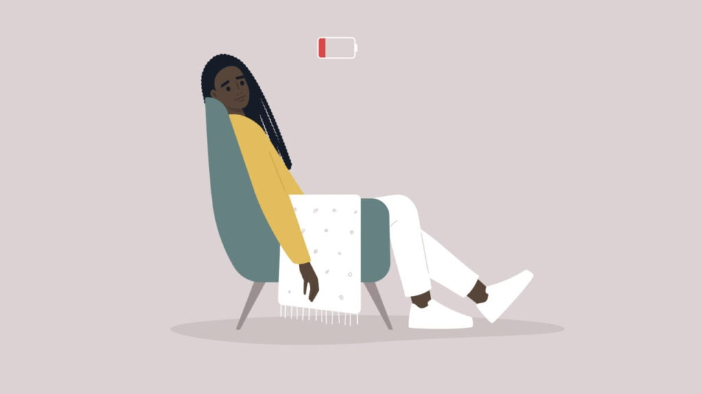 Black woman stressed and exhausted
