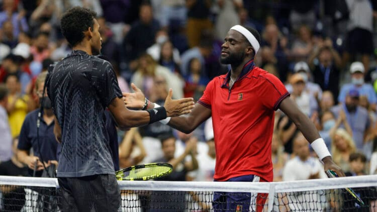 Felix Auger-Aliassime of Canada and Frances Tiafoe of the United States