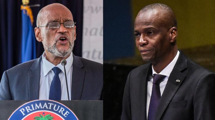 Haiti Prime Minister Ariel Henry (left) and assassinated President Jovenel Moïse, theGrio.com
