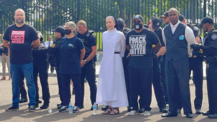 Ben Jealous and other activists were taken into custody by U.S. Secret Service