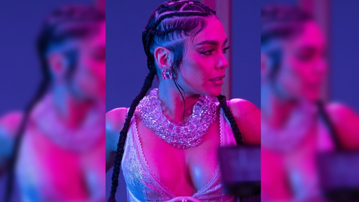 Vanessa Hudgens is seen during Rihanna's Savage X Fenty Show Vol. 3