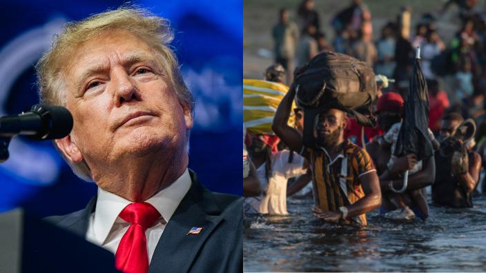 President Donald Trump and Haitian